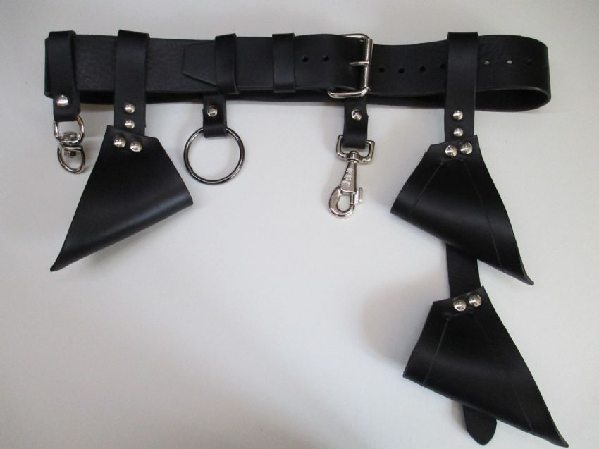 Modular Black Leather Play Session Belt,Restraints, cuffs, straps, bondage straps, Master, Mistress, D/s, M/s, sub, collars, bondage, fetish, restraint, bdsm, impact, play, mature, adult, toys, bdsm, fetish, flogger, paddle, strap, tawse, Master, Mistress, Ds, Ms, naughty, bdsmcommunity, fetishcommunity, kinky, kinkster, CanadianPrisonStrap, Master, Mistress, Dom, Domme, Ds, Ms,